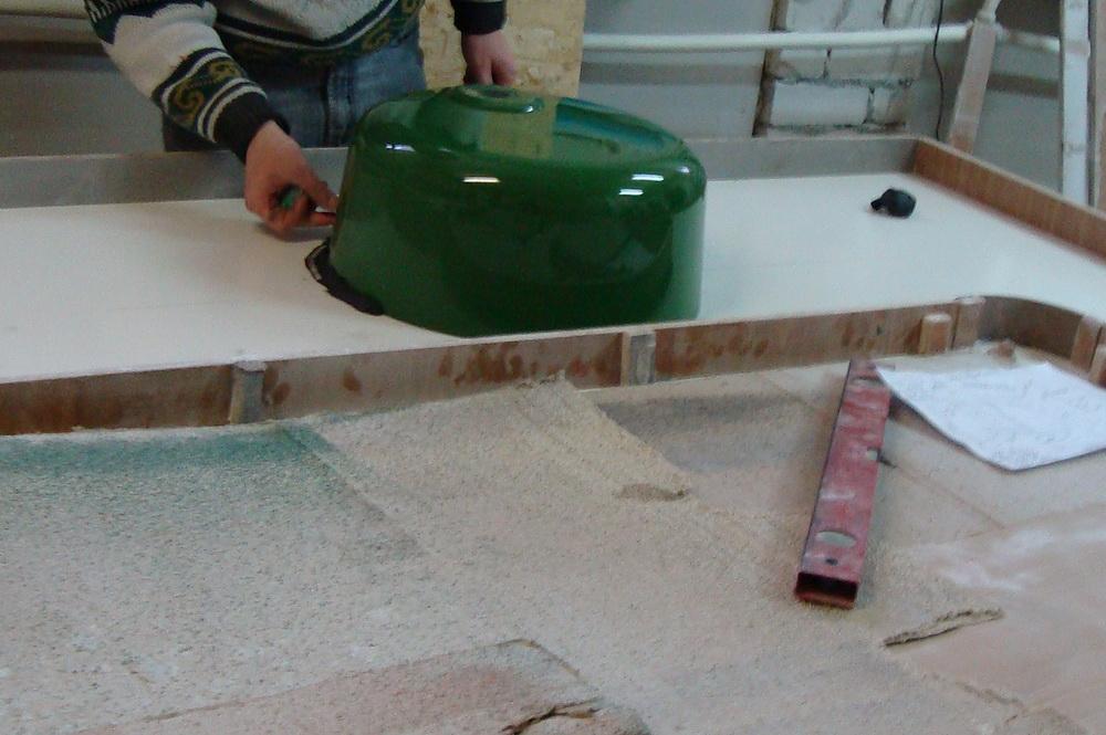 Установка столешница из искусственного камня своими руками